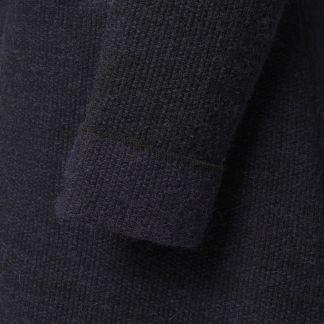 Cordings Black British Made Alpaca Cardigan Coat Different Angle 1