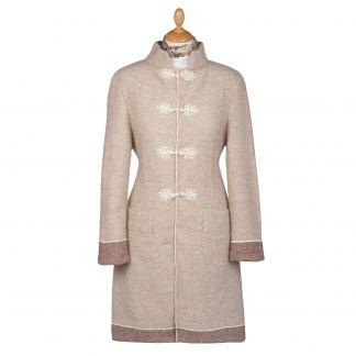 Cordings Cream British Made Alpaca Cardigan Coat Main Image