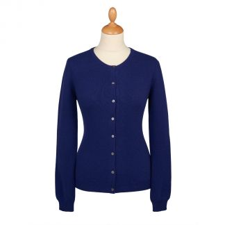 Cordings Navy Blue Cashmere Cardigan Main Image