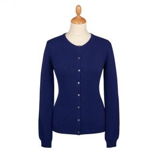 Cordings Navy Blue Cashmere Cardigan Main Image