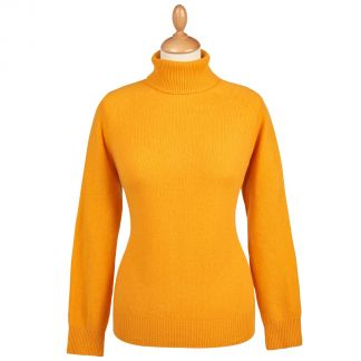 Cordings Yellow Merino & Cashmere Roll Neck Main Image
