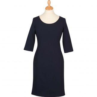 Cordings Navy Stretch 3/4 Sleeve Dress Main Image