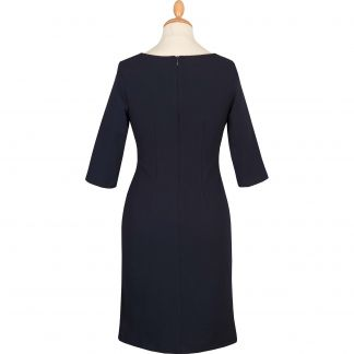 Cordings Navy Stretch 3/4 Sleeve Dress Different Angle 1