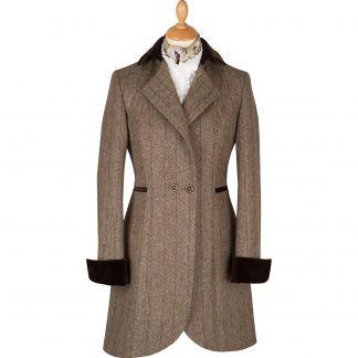 Cordings Bracken Toscana Velvet Trim Tba Coat Main Image
