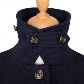 Cordings Navy Austrian Loden Coat Different Angle 1