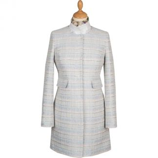 Cordings Pale Blue Round Collar Coat Main Image