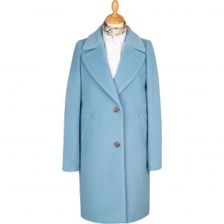 Cordings Powder Blue Alpaca Coat Main Image