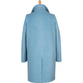 Cordings Powder Blue Alpaca Coat Different Angle 1