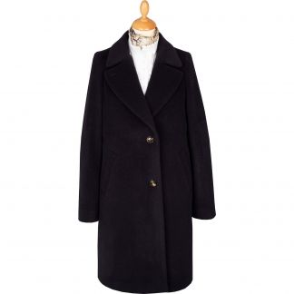 Cordings Navy Blue Alpaca Coat Main Image