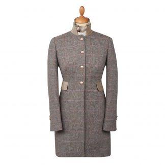 Cordings Castleford Harris Tweed Nehru Coat Main Image