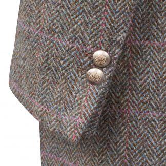 Cordings Castleford Harris Tweed Nehru Coat Different Angle 1