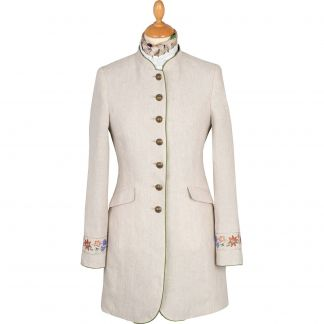 Cordings Beige Linen Austrian Nehru Coat Main Image