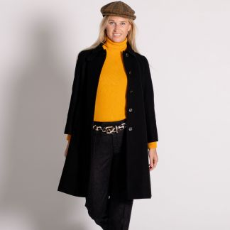 Cordings Black Austrian Loden Swing Coat Different Angle 1