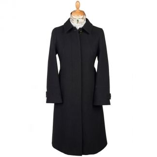 Cordings Black Austrian Loden Swing Coat Main Image