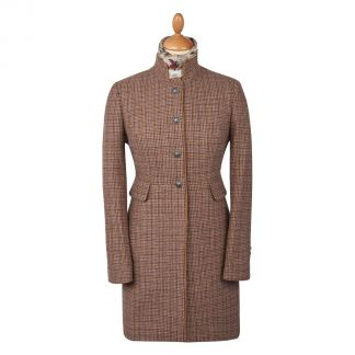 Cordings Oakham Nehru Tweed Coat Main Image