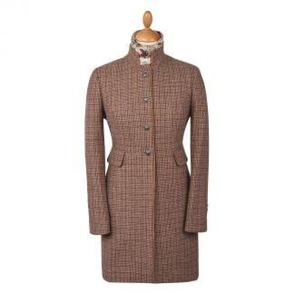 Cordings Oakham Nehru Tweed Coat Different Angle 1