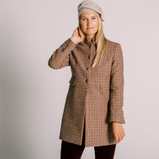 Cordings Oakham Nehru Tweed Coat Different Angle 1