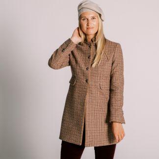 Cordings Oakham Nehru Tweed Coat Main Image