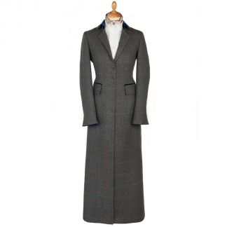 Cordings Long Tweed With Velvet Trim Coat Main Image