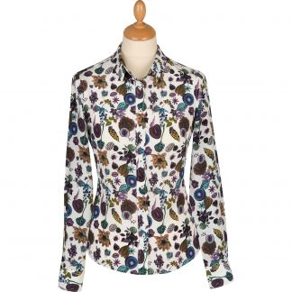 Cordings Floral Earth Liberty Silk Crepe Shirt Main Image