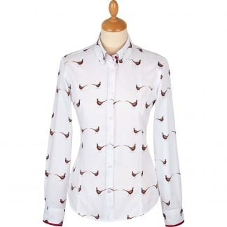 Cordings Fitted Pheasant Trim Shirt Main Image