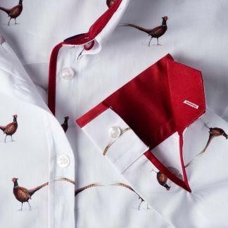 Cordings Fitted Pheasant Trim Shirt Different Angle 1