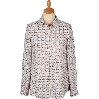 Cordings Peonies Viscose Shirt Main Image