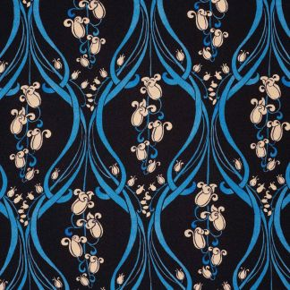 Cordings Navy Bluebell Silk Crepe Liberty Shirt Different Angle 1
