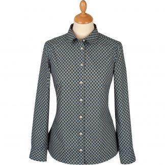 Cordings Navy Ocelli Liberty Tana Lawn Shirt Main Image