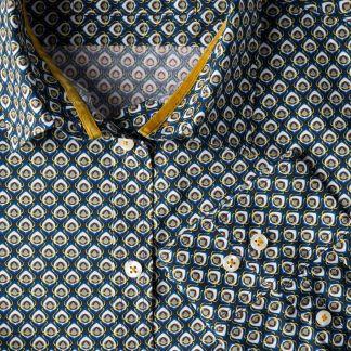 Cordings Navy Ocelli Liberty Tana Lawn Shirt Different Angle 1