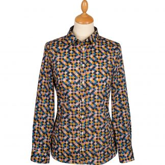 Cordings Pink and Navy Palazzo Liberty Shirt Main Image