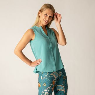 Cordings Embroidered V Neck Sleeveless Top Different Angle 1
