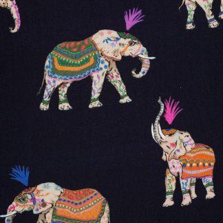 Cordings Navy Elephant Print Sleeveless Shirt Different Angle 1