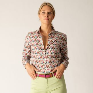 Cordings Birds of Paradise Liberty Cotton Shirt Different Angle 1