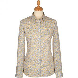 Cordings Yellow Phoebe Cotton Liberty Shirt Main Image