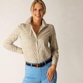 Cordings Yellow Phoebe Cotton Liberty Shirt Different Angle 1