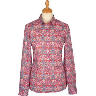 Cordings Strawberry Thief Liberty Cotton Shirt Main Image