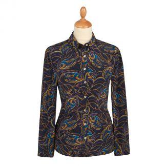 Cordings Isadora Feather Liberty Crepe Silk Shirt Main Image