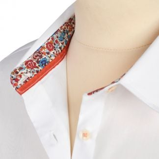 Cordings White Liberty Trimmed Emma & Georgina Cotton Shirt Different Angle 1