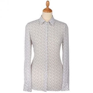 Cordings White Snaffle Trim Cotton Shirt Main Image