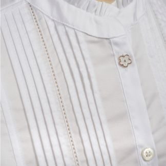 Cordings White Pin Tuck Pie Crust Cotton Shirt Different Angle 1