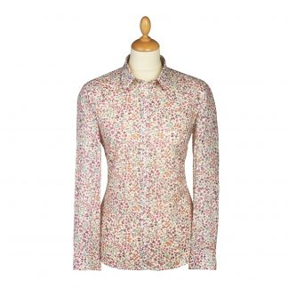 Cordings Peach Donna Leigh Liberty Cotton Shirt Main Image