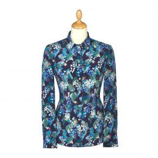 Cordings Osterley  Liberty Crepe Silk Shirt Main Image