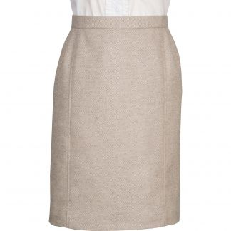 Cordings Lancing Herringbone Tweed Pencil Skirt Main Image