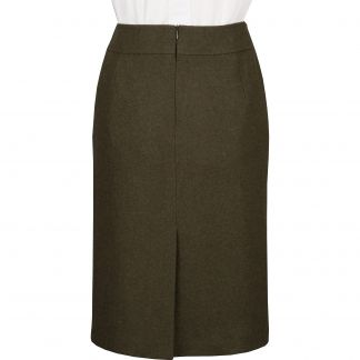 Cordings Olive Green Loden Pencil Skirt Different Angle 1