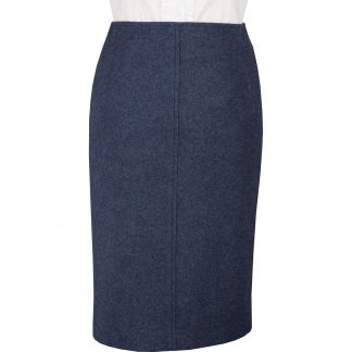 Cordings Navy Blue Loden Pencil Skirt Main Image