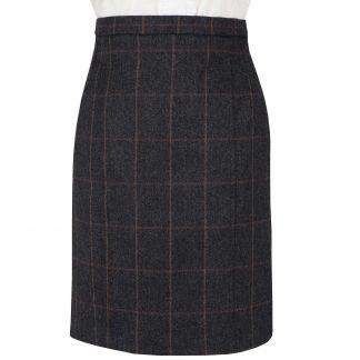 Cordings Charcoal Berkley Tweed Pencil Skirt Main Image