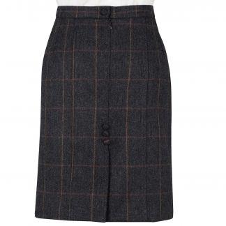Cordings Charcoal Berkley Tweed Pencil Skirt Different Angle 1
