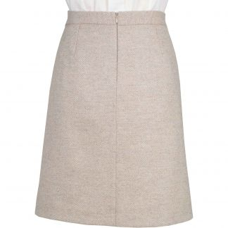 Cordings Lancing Herringbone Tweed Short Skirt Different Angle 1