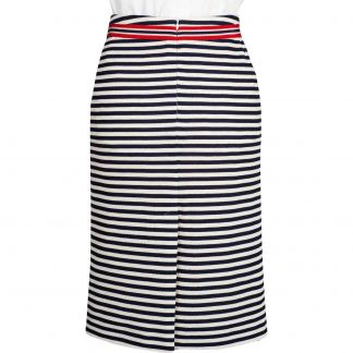 Cordings Stripe Nautical Pencil Skirt Different Angle 1